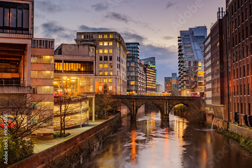 Apartments and office blocks at Manchester city centre, UK - 90654616