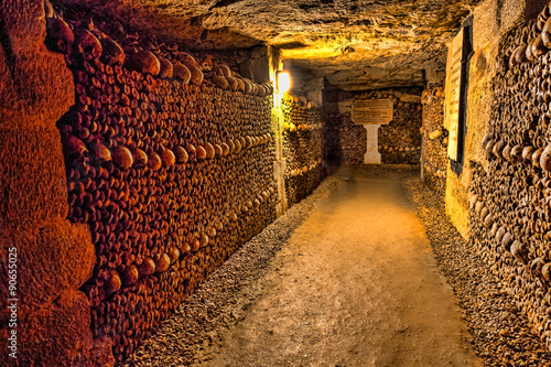 Catacombs of Paris - Skulls and Bones in the Realm of the Dead -3 Photo by dirk94025