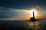 Lighthouse on sunset. - Fine Art prints