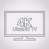 4K UltraHD TV icon