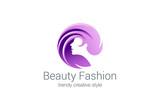 Beauty Fashion Spa Logo circle design vector. Haircut salon