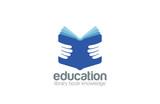 Book in Hands Education Logo design vector. Library - 90673054