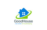 House Logo Real Estate and Housekeeping service vector design - 90673067