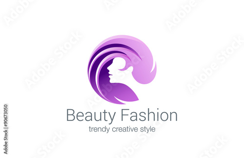 """Beauty Fashion Spa Logo Circle Design Vector. Haircut"