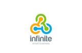 Triple Chain Teamwork Social Logo abstract design vector icon - 90674036