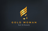 Woman face Logo Jewelry Fashion Luxury vector design template...