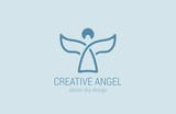 Angel Logo design vector. Church Logotype concept icon. - 90674215