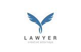 Quill Logo Lawyer vector icon. Education Writer logotype - 90674225