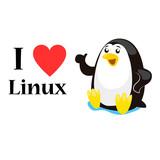I love linux concept, vector illustration poster