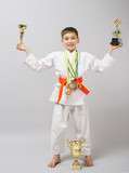 Champion, winner, karate, 1st place