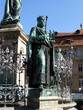 Leinwanddruck Bild - Maximiliansbrunnen in Bamberg