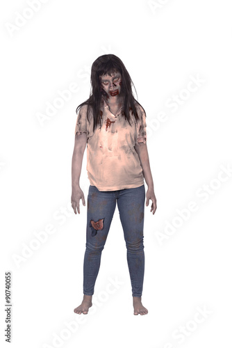 Poster Asian female zombie