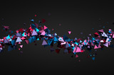 Fototapety Abstract 3D Rendering of Flying Particles.