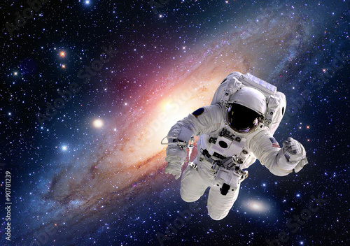 Astronaut spaceman suit outer space solar system people universe Plakát