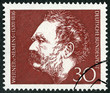 Постер, плакат: GERMANY 1966: shows Ernst Werner Siemens 1816 1992 inventor