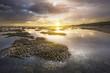 Quadro Sunset sur le lagon de Saint Leu - Kelonia - île de la réunion