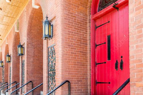 Red Door and Brick Arches © dbvirago