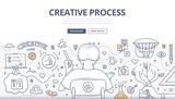 Creative Process Doodle Design - 90820248