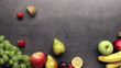 Fresh fruits moving on kitchen table background, stop motion animation