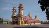 General view of the Cao Dai Holy See Temple in Tay Ninh, near Ho Chi Minh City (Saigon), Vietnam. poster