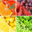 Fresh color fruits, berries and vegetables