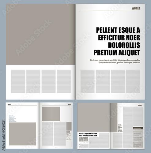 Modern magazine layout template buy photos ap images detailview modern magazine layout template maxwellsz