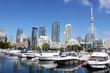 Toronto marina and luxury condominiums