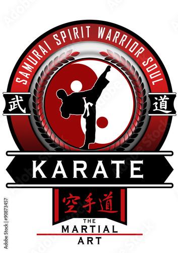 Fototapeta Karate escudo vermelho