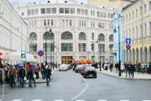 In de dag Milan Historical city center.