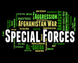 Special Forces Means Military Action And Covert poster