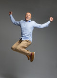 Fototapety handsome man jumping