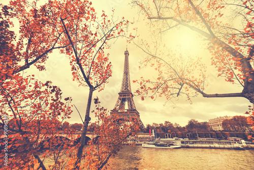 Zdjęcia na płótnie, fototapety na wymiar, obrazy na ścianę : The eiffel tower in paris