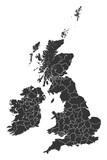 Map British Regions Counties States - 90914066