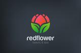 Abstract Flower Logo circle shape design vector - 90934460