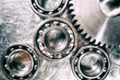 titanium and steel ball-bearings and gears, aerospace-parts industry