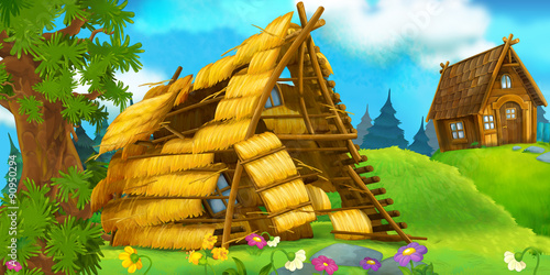Cartoon scene for fairy tales - illustration for the children - 90950294
