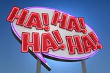 HA! HA! HA! HA! Sound Effect Neon Sign
