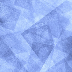 abstract background blue and white square triangle and diamond shaped transparent layers in diagonal pattern background