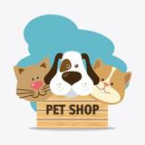 Fototapety Pet shop design.