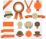 Fototapety Retro Award Elements Set