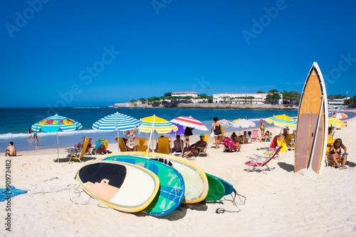fototapeta na ścianę Brazilians at Copacabana Beach, Rio de Janeiro. Brazil.