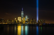 New York skyline with Tribute in Lights