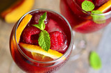 Homemade delicious sangria.