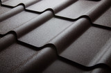 Fototapety Close up of metal roof tile