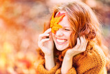 Fototapety laughing autumn