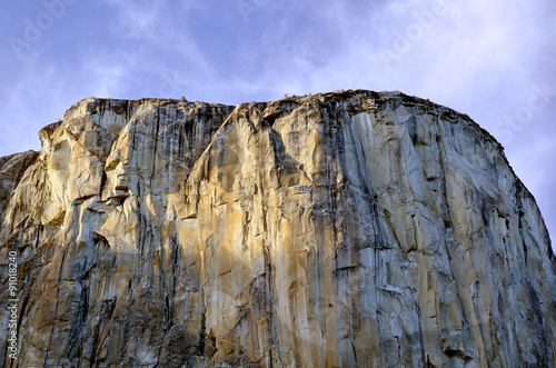 Poster El Capitan with climbers in sunset, Yosemite National Park