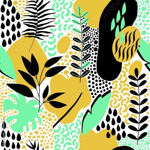 Fototapeta Hand Drawn Abstract Seamless Pattern