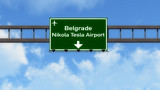 Belgrade Serbia Airport Highway Road Sign