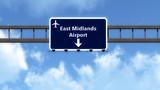 East Midlands England United Kingdom Airport Highway Road Sign poster