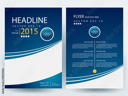 Free Annual Report Cover Page Templates Blue Annual Report Title – Free Report Cover Templates